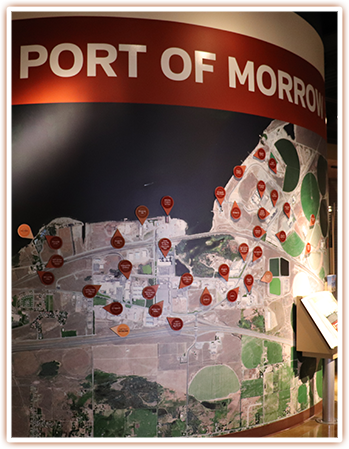 Port of Morrow display at the SAGE Center