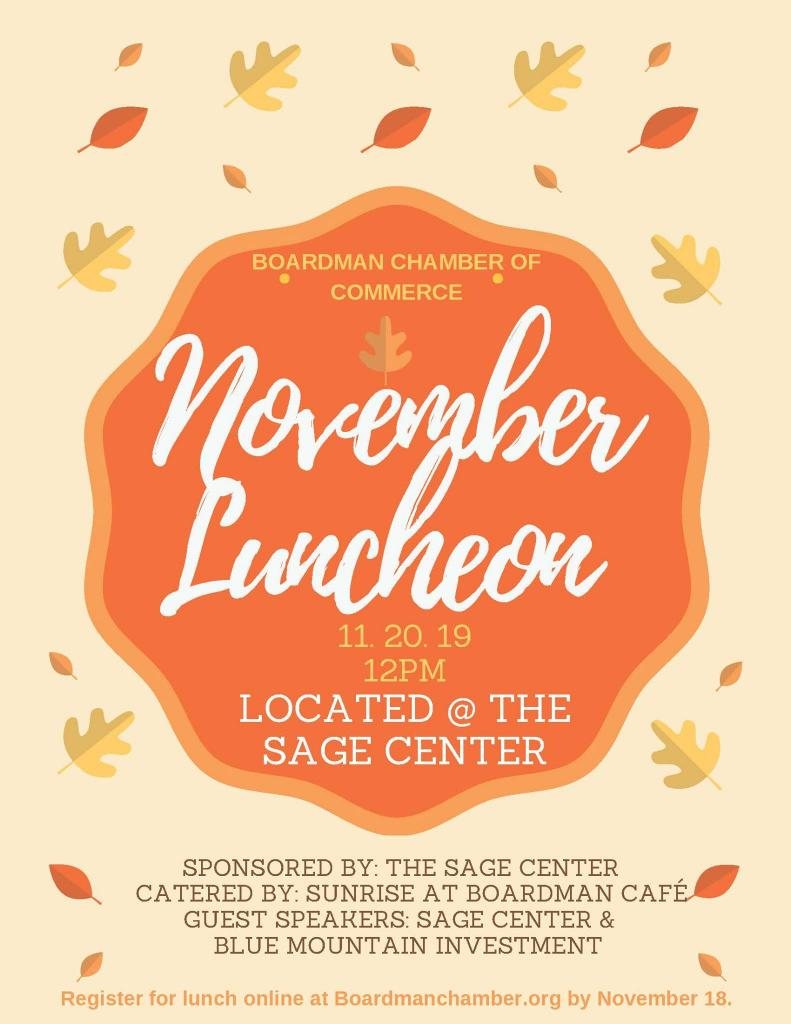 November Chamber Luncheon at SAGE Center
