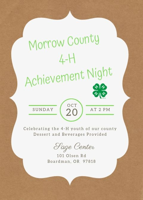 4-H Achievement Night