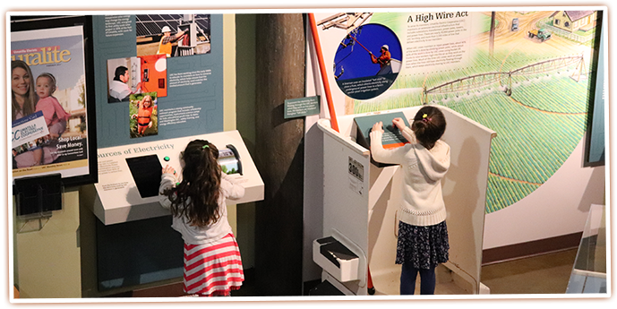 Visitors can learn about electricity at the Umatilla Electric Cooperative exhibit at the SAGE Center