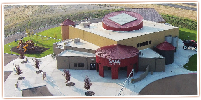 Areial view of the SAGE Center