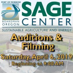 Auditions and Filming, April 6, 2019 beginning at 9:00AM